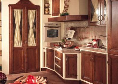 Mobili artigianali per cucina rustica
