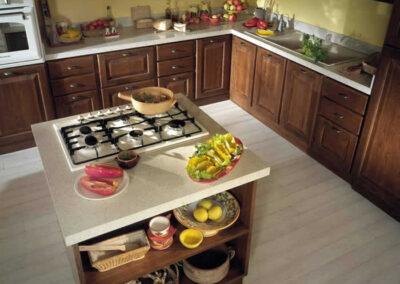 Penisola per cucina rustica