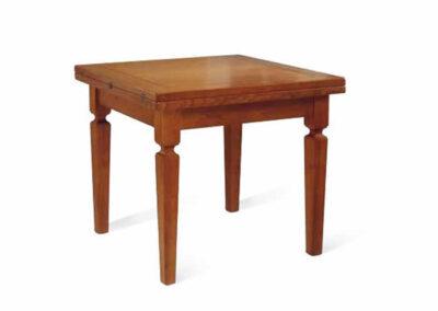 Tavolino lavorato artigianalmente in legno pregiato