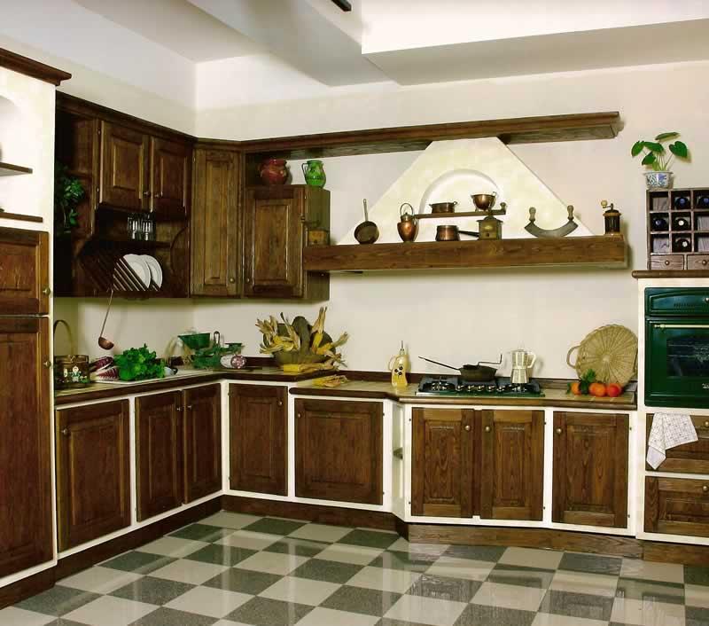 Cucina in legno lavorato artigianalmente Solea
