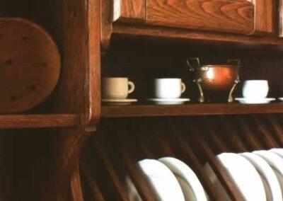 Scolapiatti in legno per cucina Solea