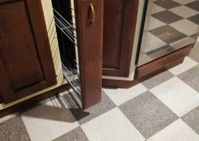 Cassetto cucina Fiamma in legno massello