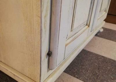 Gambe credenza in legno massello artigianale