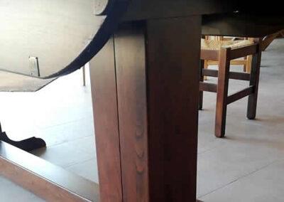 Gamba tavolo in legno massello