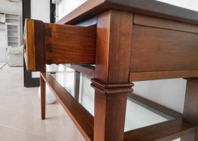 Cassetto per mobile artigianale in legno massello